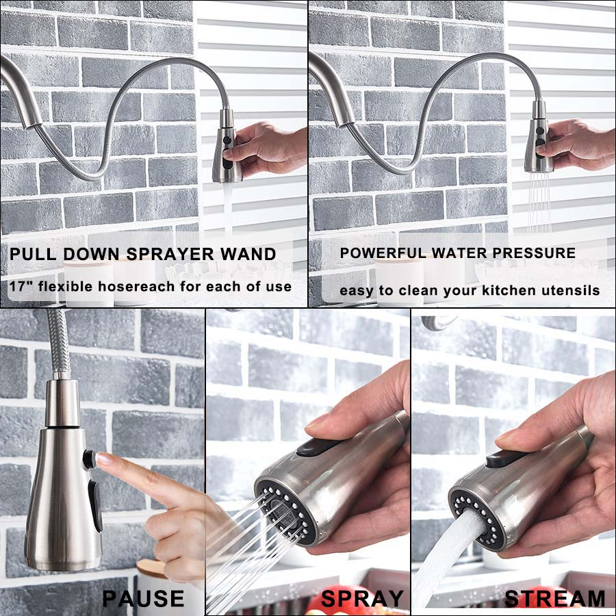 Rozin Purification Kitchen Faucets Black Pull Out Kitchen Water Filter Tap 3 Way Mixer torneira para cozinha de parede Crane 5