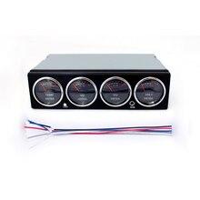 Display led música analisador de espectro carro áudio analisador de espectro de temperatura tensão display áudio medidor nível