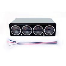 תצוגת LED מוסיקה ספקטרום Analyzer רכב אודיו רכב ספקטרום Analyzer טמפרטורת מתח אודיו תצוגת רמת מטר