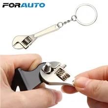 FORAUTO 렌치 키 체인 스테인레스 스틸 자동차 키 링 고급 시뮬레이션 스패너 키 체인 keyring Keyfob 도구 참신
