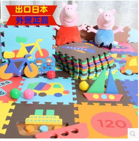 Tapis épaissi de mousse de bande dessinée chambre écologique tapis de lavage à la main tapis de puzzle tapis décoratif bébé tapis de jeu