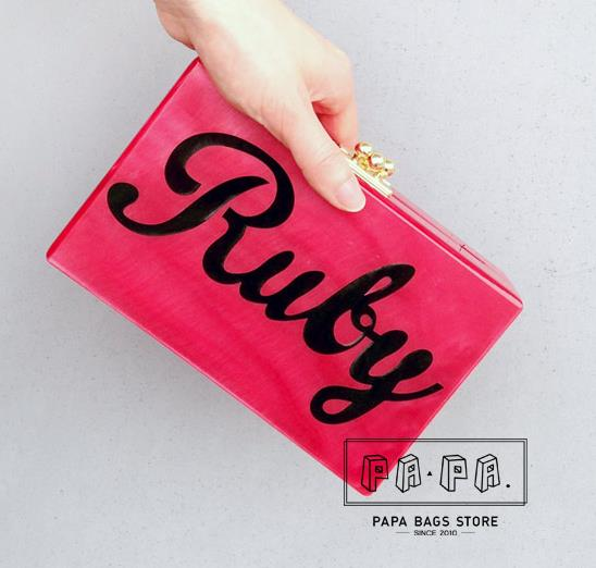 Ruby red personalized letters design stylish acrylic mini shoulder bag lady dinner party clutch evening bag flap purse wallet матрас dreamline springless soft slim 90х195 см
