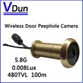 ,5.8G Wireless Door Peephole Camera VD-TE50 ,Mini Wireless CCTV Camera Home security Camera   Free Shipping