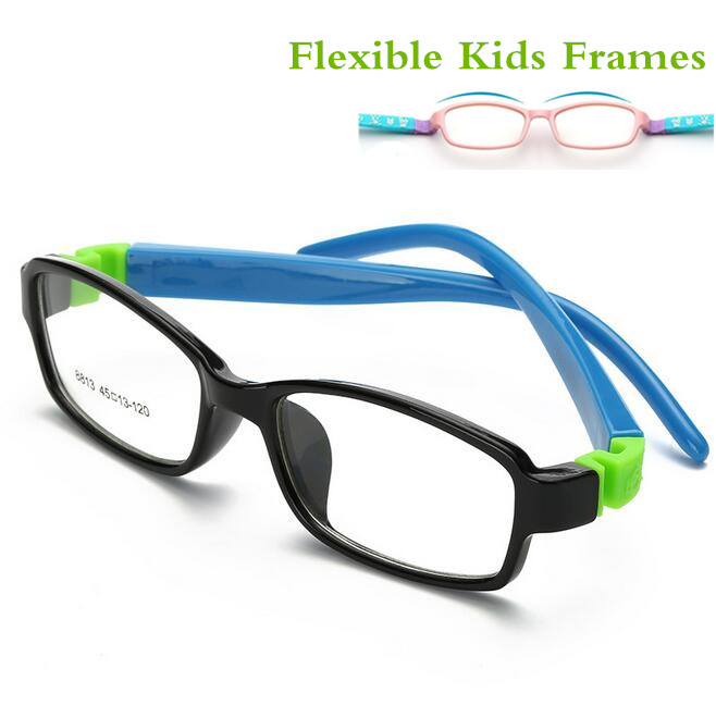 Nette Acetato Rubber Kinder Brillengestell Flexible Brillen Kinder Rahmen Eyewear TR90 Optisches Glas 8813 Oculos De Grau