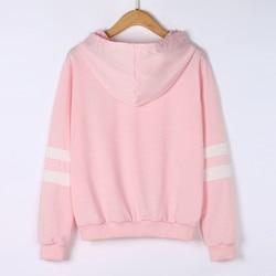 Hoodies Women Sweatshirt Casual Planet Print Striped Long Sleeve Hoody Shirt Blouse Jumper Tops For Female 0912 6