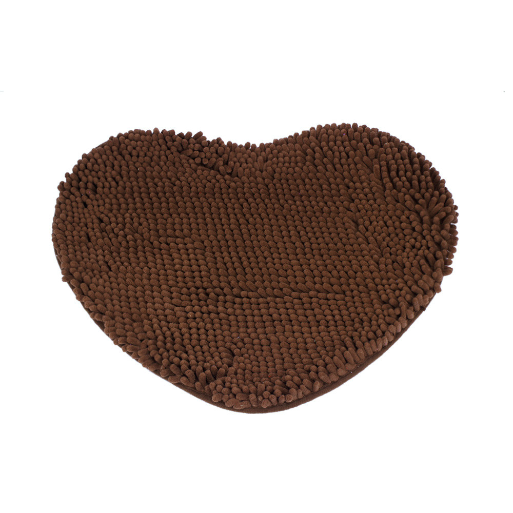 Ouneed Bedroom Door Mat Heart Shaped Carpet Fluffy Chenille Rug Cushion*30 2017 hot sale