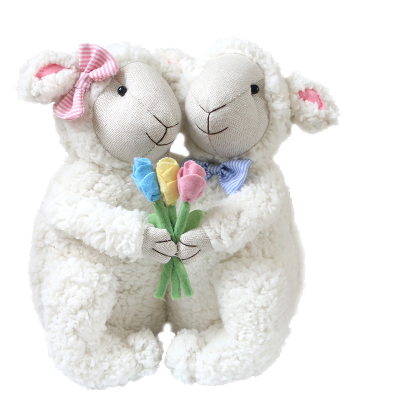 Cute Plush Doll Valentine's Day gift plush sheep doll soft sheep baby cute doll girl gifts 1 piece 30cm hot sale cute kawaii small floral long ears rabbit plush toy doll super soft child boy girl baby doll gift