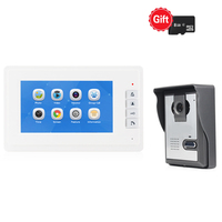 JEX Wired 7`` LCD Video intercom Doorbell Recording Door phone system HD Infrared Night Camera Easy Install FREE SHIPPING
