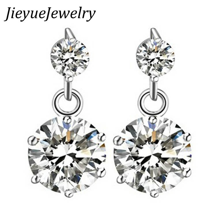 Charming Jewelery Accessories Korean Style High Quality Star Shaped Woman Earrings Silver Plated