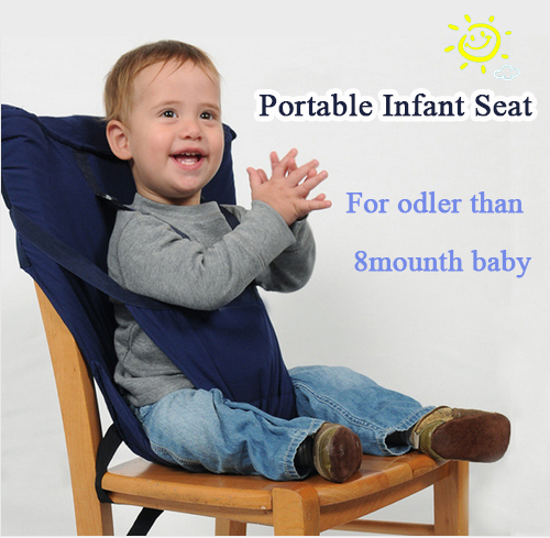 S012 Baby Chair Portable Infant Seat Dining Baby Seat Seat Safety Belt Feeding High Chair Harness baby feeding chair