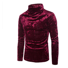 Men New Henley Cotton Turtleneck Collar Long Sleeve Solid T Shirt Tops Homme Autumn High Quality Top US Size