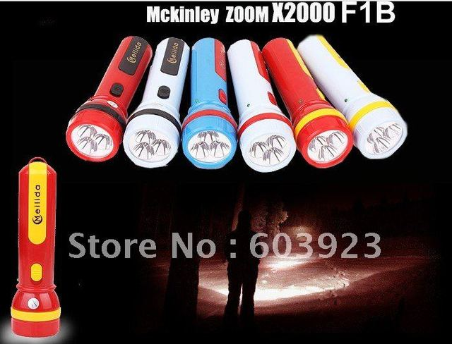 Three light outdoor home essential household Flashlight LED rechargeable flashlight