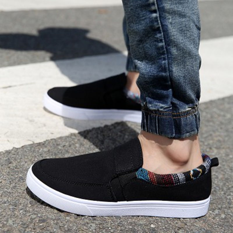 2018 spring and summer new fashion wild casual shoes Korean students canvas shoes trend men ...