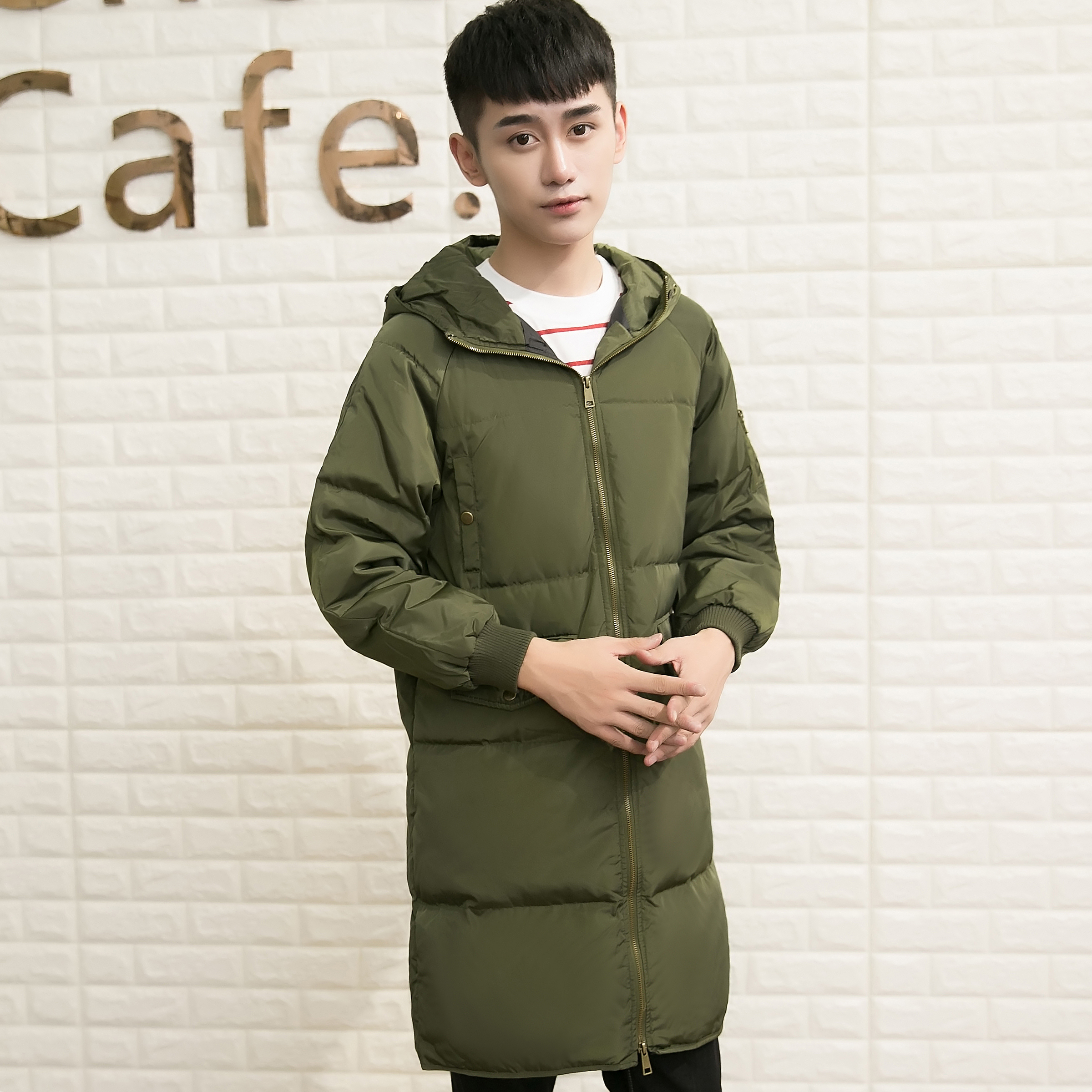 New Arrival Mens Long Down Coat Hooded Winter Jacket Men Warm Plus Size Duck Down Jacket Lovers Clothes His-And-Her Coat S-3XL