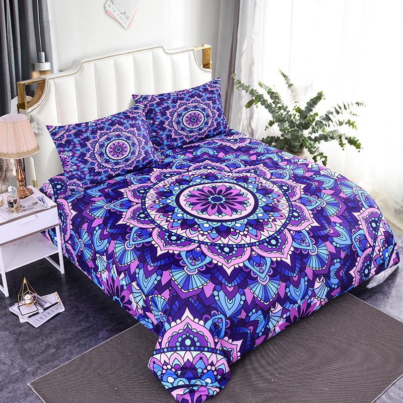 ZEIMON Bohemia Bedding Sets Comforter Home Textiles Mandala Printed Duvet Cover Pillowcase Queen King Size Bedspread
