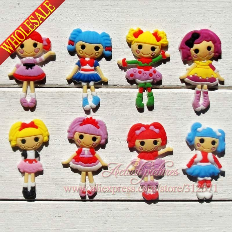 Wholesale,100Pcs  Lalaloopsy  PVC shoe accessories/shoe charms For Silicone Wristbands&shoes with holes,shoe buckle,fit for kids free shipping new 100pcs avengers pvc shoe charms shoe accessories shoe buckle for wristbands bands