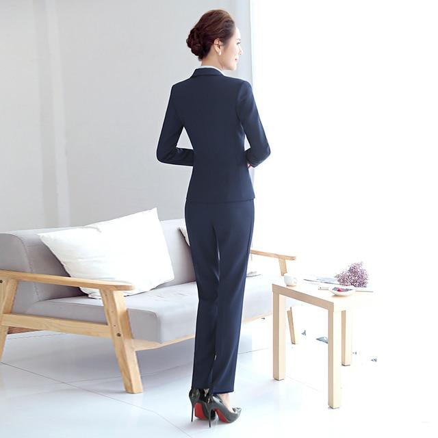 High Quality Women Blazer Long Sleeve Polyester Coats Feminine Office Clothes Elegant Temperament Solid Formal Blazer For Women 3