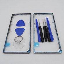 Original Metal Middle Frame Bezel Housing Replacement for Sony Xperia Z1 L39h C6903 Middle Side Plate