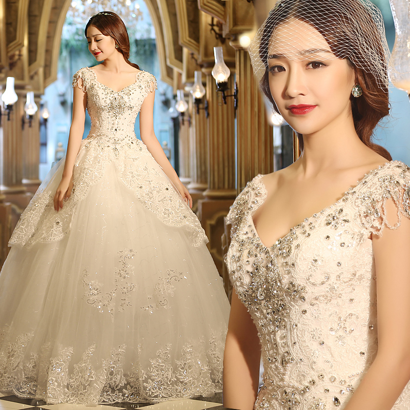 Dw2815 Princess Ball Gown Wedding Dresses 2017 Lace With: Vestido De Novia 2017 Luxury Princess Ball Gown Wedding