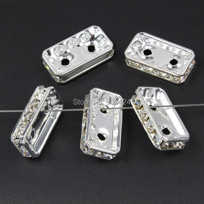 25pcs 5 Hole Wave Silver Plated Spacers Bars Jewelry Findings Earrings Necklace