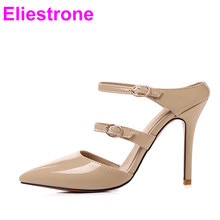 34634583596 Brand New Sexy Red Yellow Women Stripper Sandals Stiletto High Heels Lady  Party Shoes EK012 Plus