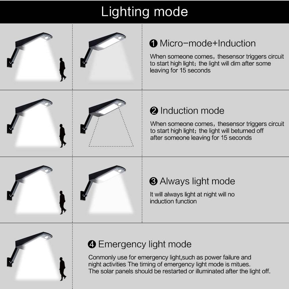 pir sensor de movimento lâmpada parede luzes