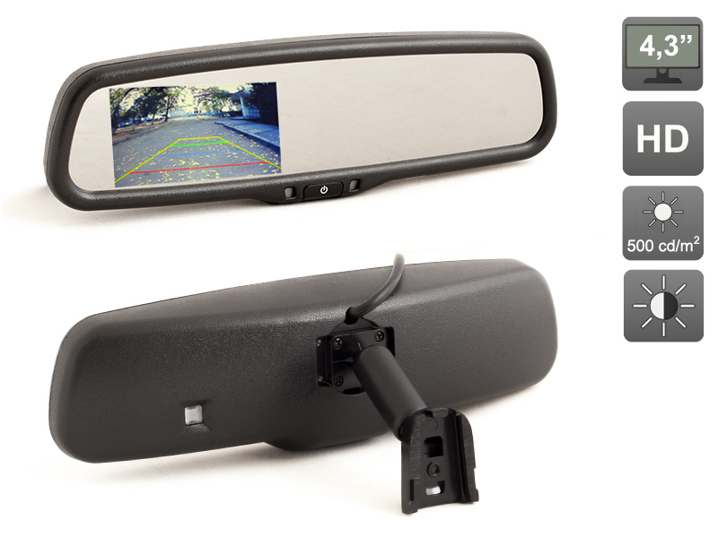 ФОТО OEM style 4.3 inch HD Car Parking Rearview Mirror Monitor (800x480) for a Rerview Camera, AVIS Electronics  AVS0410BM