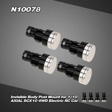 N10078 Upgraded Aluminum Alloy Magnetic Invisible Body Post Mount For 1/10 AXIAL SCX10 4WD Electric RC Car цена в Москве и Питере
