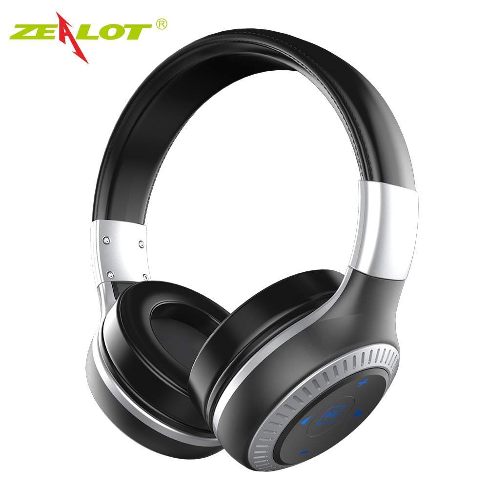 ZEALOT B20 Stereo Wireless Bluetooth 4.1 Earphone fon kepala dengan MIC untuk Iphone Samsung Headphone Xiaomi Headset HTC Huawei