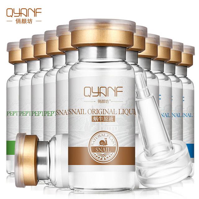 QYF Hyaluronic Acid Argireline Repair Snail Essence Face Cream Skin Care Acne Treatment Blackhead Whitening Moisturizer Serum