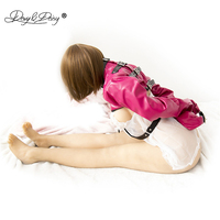DAVYDAISY Open Bust Leather BDSM Bondage Straitjacket Top Long Sleeve Sexy Lingerie Fetish Female Clubwear Sexy Costumes TA503