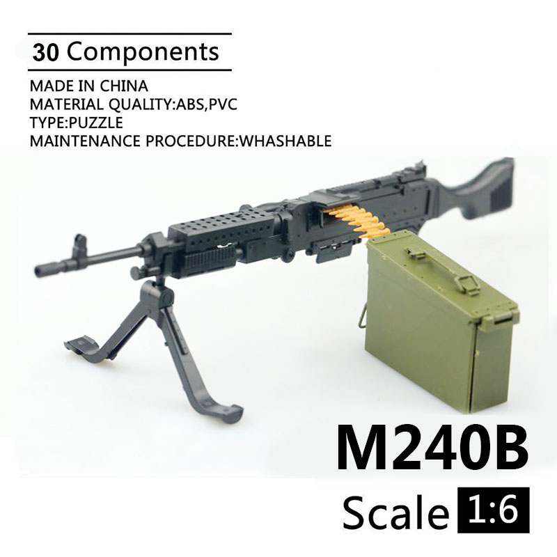 1:6 M240B Machine Gun 1/6 4D Assemble Gun Model For 12