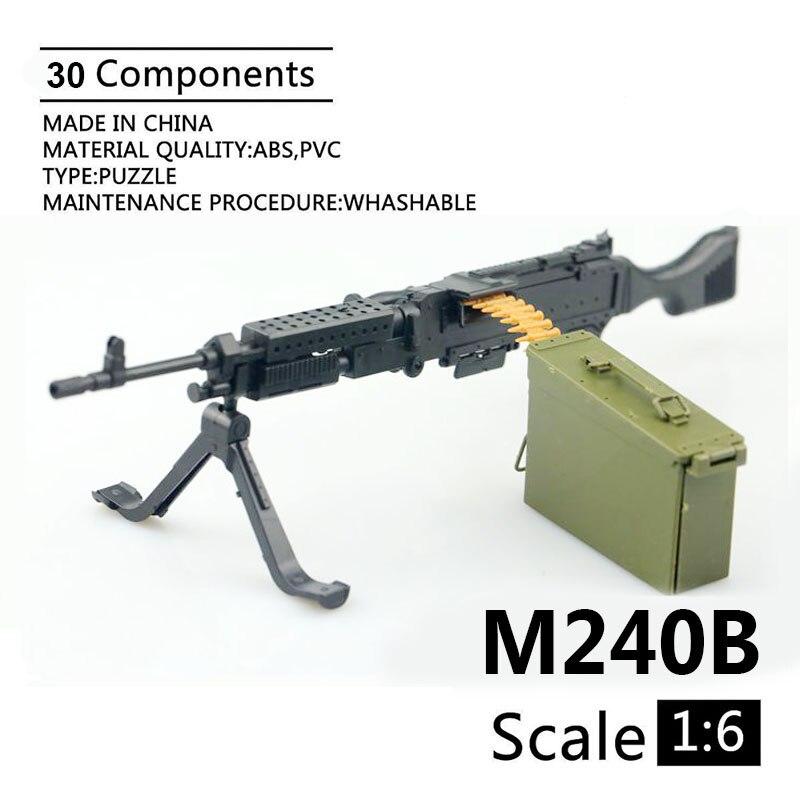 1:6 M240B Machine Gun 1/6 4D Assemble Gun Model For 12