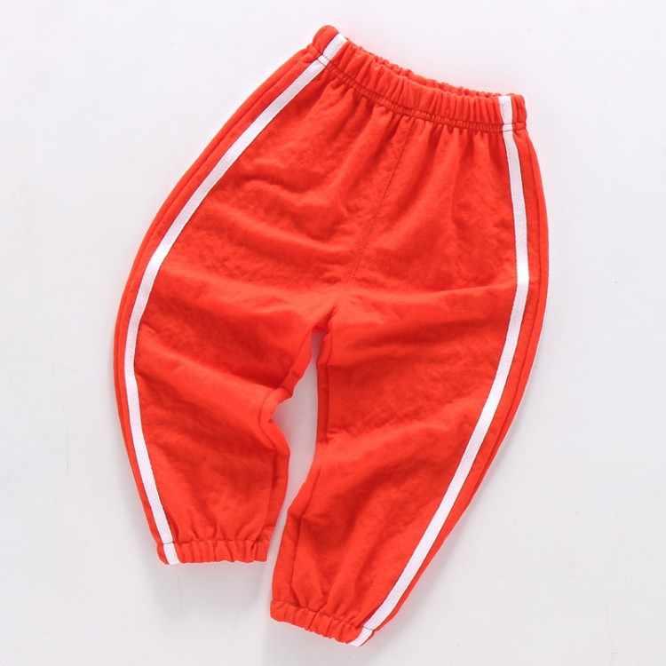 Çocuklar Moda Gevşek Çizgili yazlık pantolonlar Bebek Erkek Kız Anti Sivrisinek Pantolon Yeni Pamuk Moda Pantolon