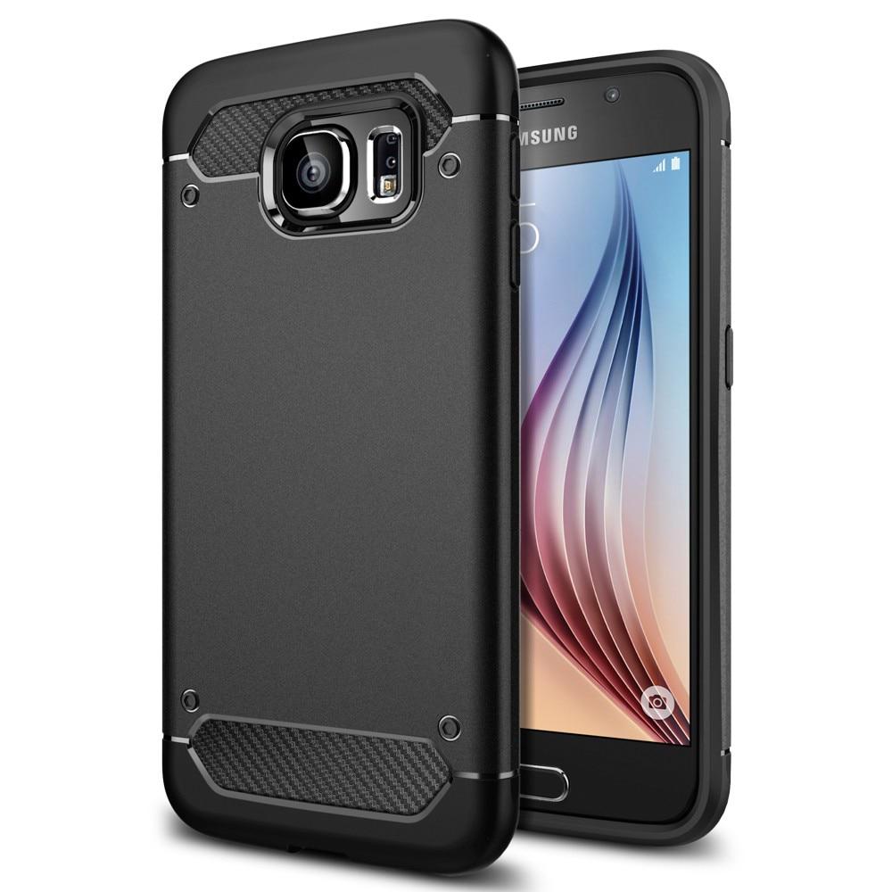 imágenes para Caja de la Armadura Resistente para Samsung Galaxy S6 Aliantech-Slim & Soft TPU EE.UU. Gota a Prueba de Grado Militar Teléfono caso