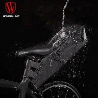 Roda para cima saco de bicicleta reflexivo design mountain bike saco à prova dwaterproof água bicicleta sela saco grande capacidade saco de ciclismo estrada