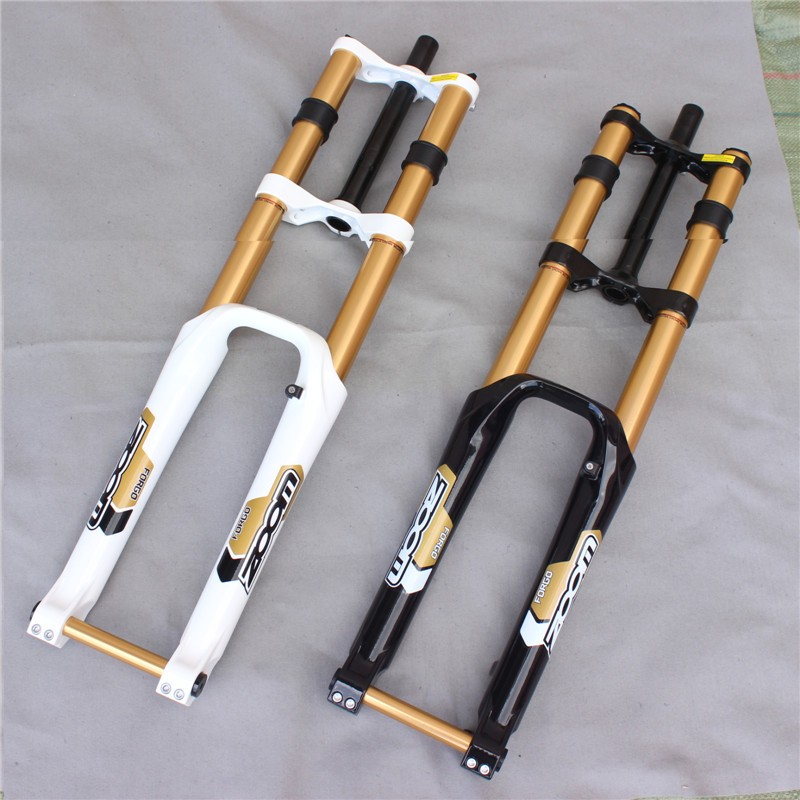 ZOOM downhill bike fork mtb 26 bicycle fork bike suspension fork mountain bike accessories 2 color s 2016 new fat bike fork 26 snow bike suspension fork for beach bike 26 fork bike accessories 5 color