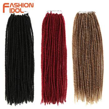 6658c5b630c19 Ídolo de la moda Faux Locs Crochet cabello extensión 30 Strands Pack  trenzas de ganchillo Ombre marrón pelo para el afroamericano negro mujeres