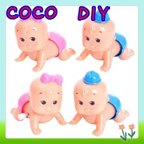 New Arrival! Crawling Doll Baby Toy Clockwork Toys Baby On The Chain Clockwork Toys Will Climb Up Eva Will Twist Ass Doll