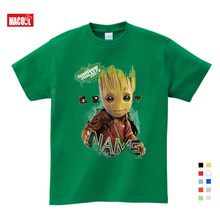 Superhero Groot Movie Guardian of The Galaxy T-shirt Summer Kids Clothes Print Men and Women Baby Flowerpot T shirts