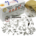 Set of 25PCS Metal Wire Puzzle IQ Mind Brain Teaser Puzzles Game for Adults Children