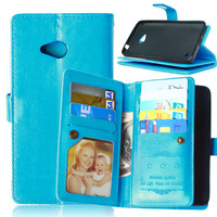 9 Card Holders Wallet Leather Cover For Nokia Lumia 640 Case Flip With Stand And Photo