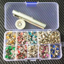 240pcs 8colors Punk Diamond Spikes Rivets/Rhinestone Studs Decor Rivets for Leather/Belt/Handbag Double-sided Rivet DIY +Tools - DISCOUNT ITEM  22% OFF Home & Garden