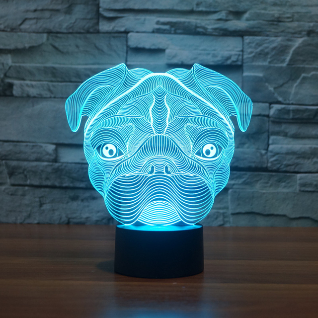 Roquet Mignon Chien Led Night Light 7 Changement De Couleur