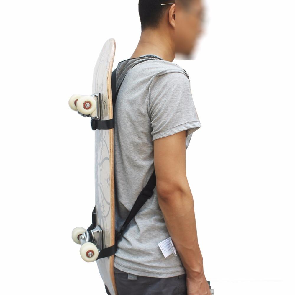 Skateboard Backpack Carrier Strap Skateboard Shoulder Carrier  Skateboard Backpack Carrier - No Board