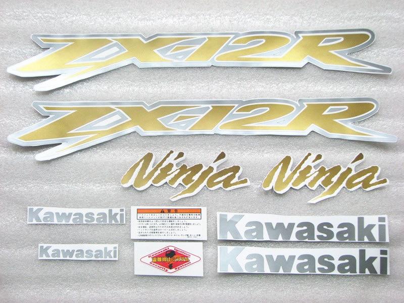Мотоцикл Высокое качество Цвет модель 3 м автомобиля стикер водонепроницаемый подходит для Kawasaki ZX-12R коричневый Цвет.