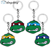 Fashion Accessries Anime Cartoon Jewelry Teenage Mutant Ninja Turtles Keychains Pendant Green Key Chain Keyring for Fans -50(China)