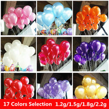 2.2g Rose Red Pearl Latex Balloons Inflatable Round Air Balls Wedding Happy Birthday Party Balloons Decoration Inflatable Toys