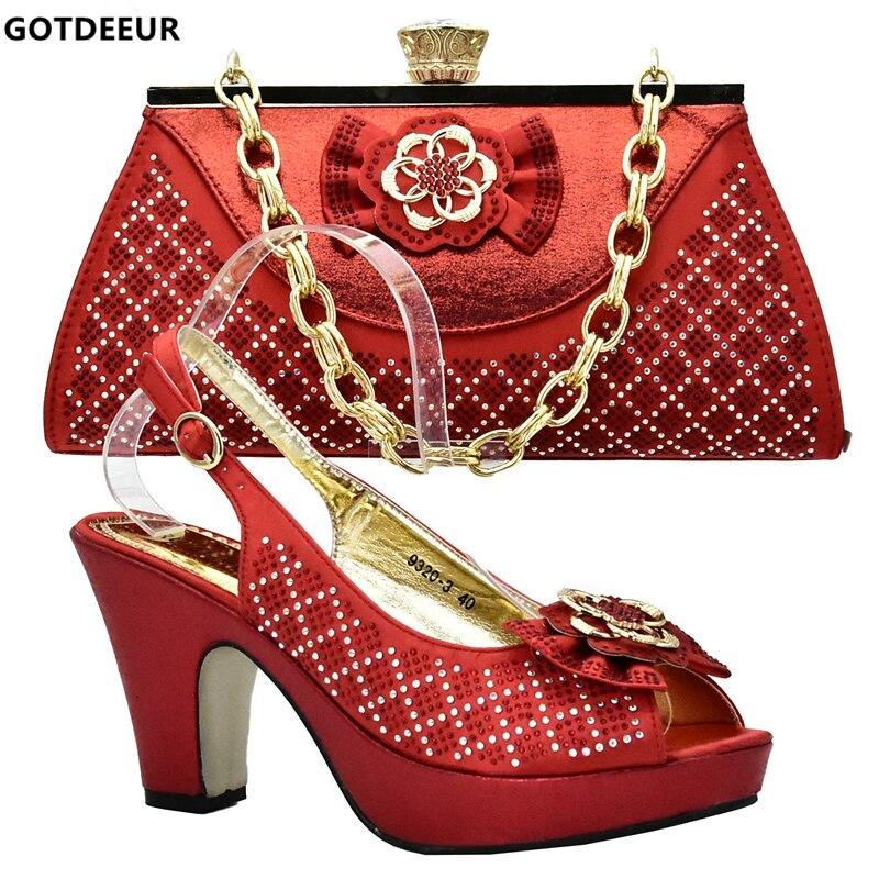 Piedra red Con Italiano Africana Mujer Gold Establece Juego fuchsia Zapato Bolsa púrpura A Llegada Bolsos 2019 Zapatos Y Nueva vf6Ux