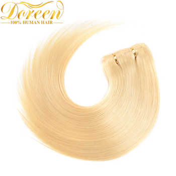 "Doreen #1b #2 #4 #8 #613 Clip In Human Hair Extensions 90G-200G Brazilian Machine Made Remy Hair Clip Ins Straight 16""-22\"""